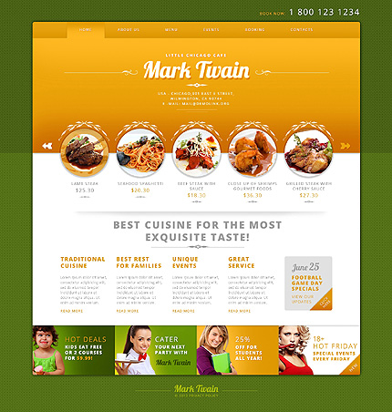 Cafe Responsive WordPress Theme
