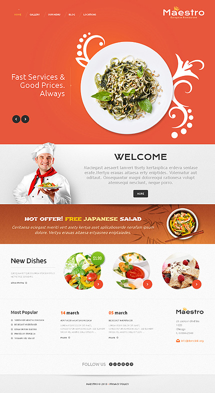 Good Restaurant WordPress Theme