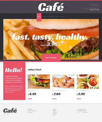 Café With Elegant View WordPress Theme