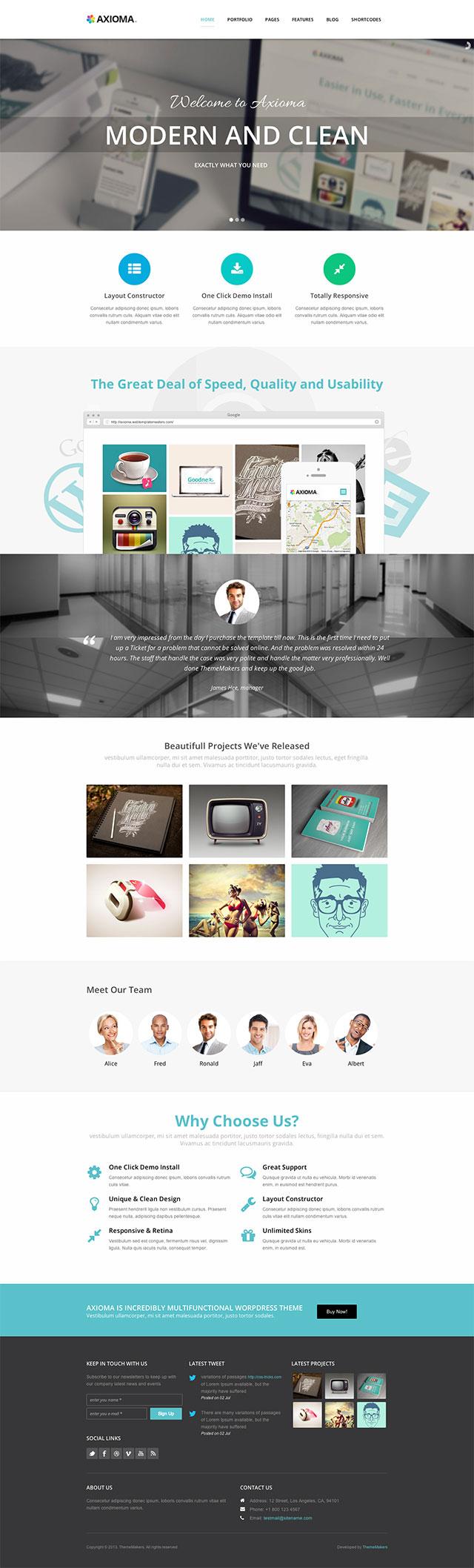 Axioma-WordPress-Theme