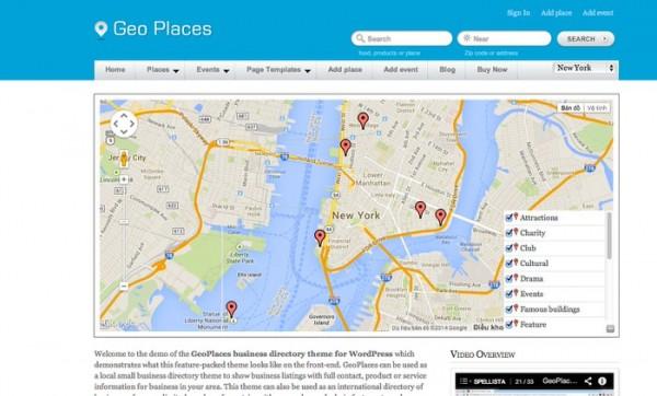 Geo Place wordpress theme