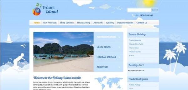 Travel Island theme