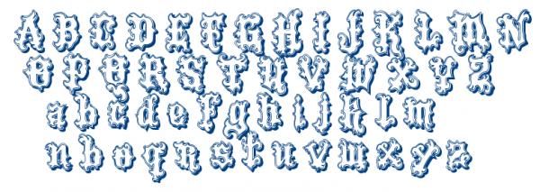 vtks tatto font