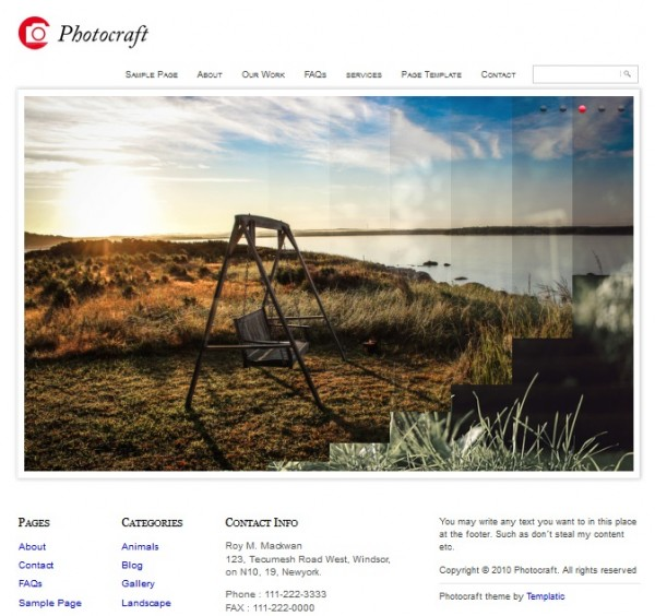 photocraft wordpress theme
