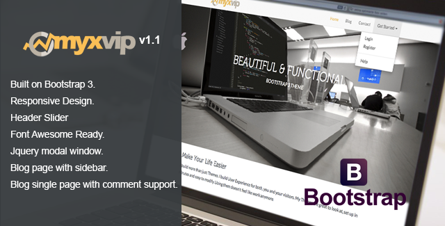 MYXVIP - Multipurpose Bootstrap Theme