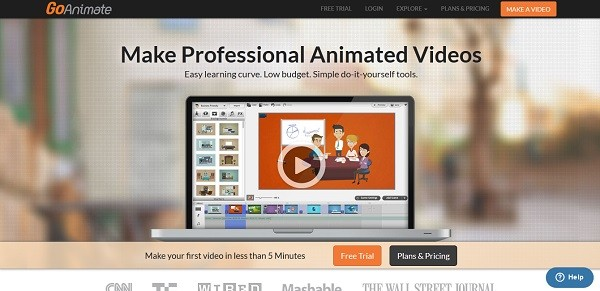 Animated presentation online