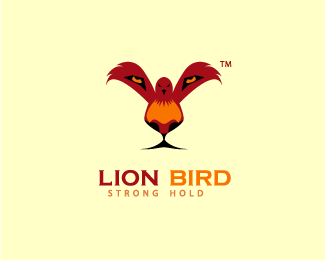 Lion Bird — symbolically clever logo