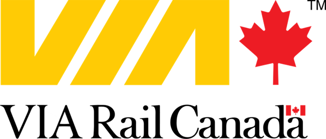 The Canadian railway corporation VIA's logo
